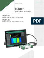 Anritsu Spectru Master MS2760A Ultraportable MmWave Spectrum Analyzer Product Brochure 11410-01054D