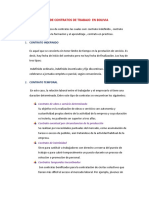 Tipos de Contrato en Bolivia 2222222222
