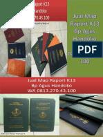 WA 0813.270.43.100, Jual Harga Sampul Raport K13 SD di Nias Utara Sumatra Utara