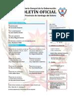 Ejemplar de Boletín Oficial Santiagueño