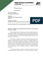 ACTIVIDAD No. 1 REPORTE DE LECTURA SOBRE  POLITICA EDUCATIVA Y FORMACION DOCENTE.docx