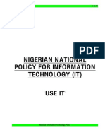 IT Policy for Nigeria