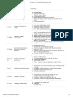 Cronograma « Curso_ Diseño Instruccional Online
