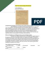 Written Document Analysis Worksheet Japanese