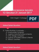 Presentasi Pembahasan Soal Bahasa Inggris SBMPTN