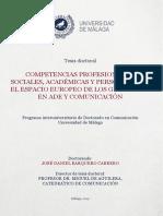 Competencias Profesionales, Sociales, Académicas y Personales en El Espacio Europeo de Los Graduados en ADE y Comunicación