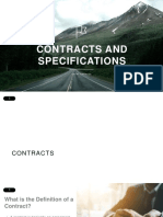Contracts and Specification
