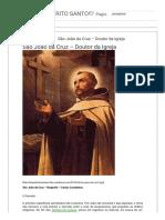 ♡A VOZ DO ESPÍRITO SANTO!♡_ São João da Cruz – Doutor da Igreja