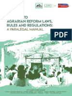 Updates to Agrarian Reform Laws Rules and Regulations a Paralegal Manual