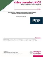 Développement du langage et développement psychologique