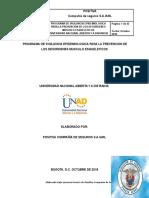 Programa de Vigilancia Epidemiologica Dme Unad 2018