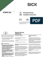 Mounting Instructions ATM60 SSI de en IM0038572