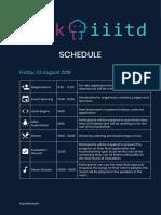 HackIIITD Tentative Schedule