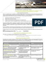 UKI ALL GEN OD Unit4 Business Continuity Policy Manual