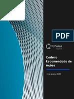 Carteira Recomendada Ações BTG Pactual Outubro 2019