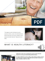 health literacy powerpoint with sound recording