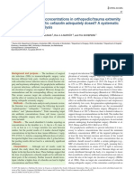 Target Site Antibiotic Concentrations in Orthopedictrauma Extremity