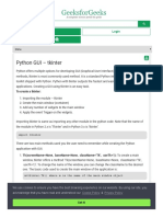 Python Gui Tkinter