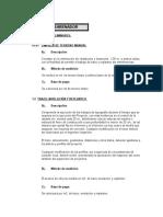 Especificaciones Tecnicas Desarenador