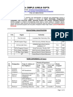 CV Dimple Juneja With List of Publications