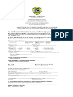 Tourist Visa Application Form (Stamped Visa)