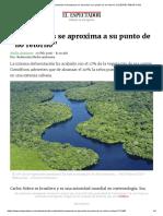 """1Debido a La Deforestación El Amazonas Se Aproxima a Su Punto de """"No Retorno"""" _ ELESPECTADOR.com"""