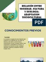 Relación Entre Sociedad, Cultura y Ecologia