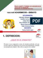 Diapositivas Del Ensayo Final