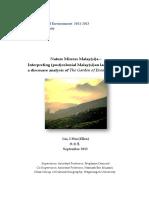 Buku Nature Mirrors Malay(Si)A