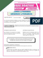 Principales Géneros Literarios Para Quinto de Secundaria