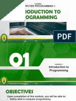 Module 1 - Intro to Programming