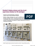 EEP - Standard tripping schemes and trip circuit supervision schemes for MV switchgear