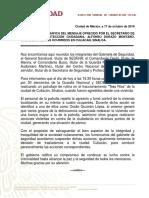 Mensaje de Alfonso Durazo sobre hechos en Culiacán, Sinaloa