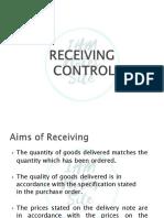 Recieving Control