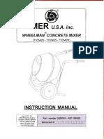 IMER USA Wheelman Concrete Mixer