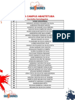Inscrições Homologadas Jogos IFPA 2019