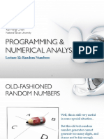 PROGRAMMING & NUMERICAL ANALYSIS Lecture 12