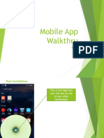 Mobile App Walkthru