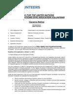 Vacancy Notice UoBalochistan