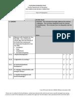 Curriculum Evaluation Form