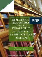 Direcctricesbibliotecasifla Unesco