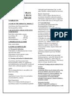 Aceclofenac Plus Paracetamol Plus Serratiopeptidase Tablets SMPC- Taj Pharmaceuticals