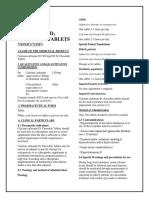 Calcium Carbonate D3 500 Mg Per 200 IU Chewable Tablets SMPC- Taj Pharmaceuticals