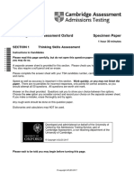 296238 Tsa Oxford Specimen Test