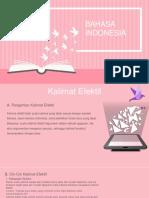 Bahasa Indonesia-KALIMAT EFEKTIF