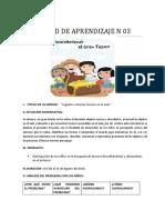 Unidad de Aprendizaje n 03 Tesoros 2019