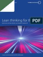 Lean Thinking NHS