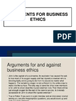 Auguments for business ethics