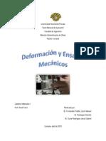 DEFORMACIÓN Y ENSAYOS MECÁNICOS