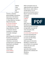 QUESTÕES II- Geografia de Rondônia- Domínios Morfoclimáticos - Prof. Adão Marcos